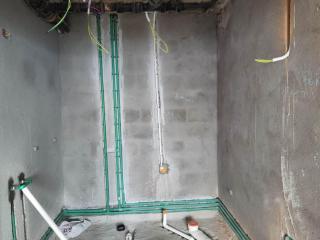 水电放线开槽施作