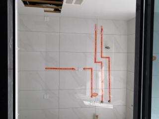 厨房墙砖施作