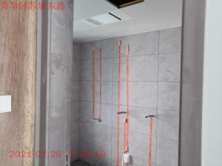 卫生间墙砖施作